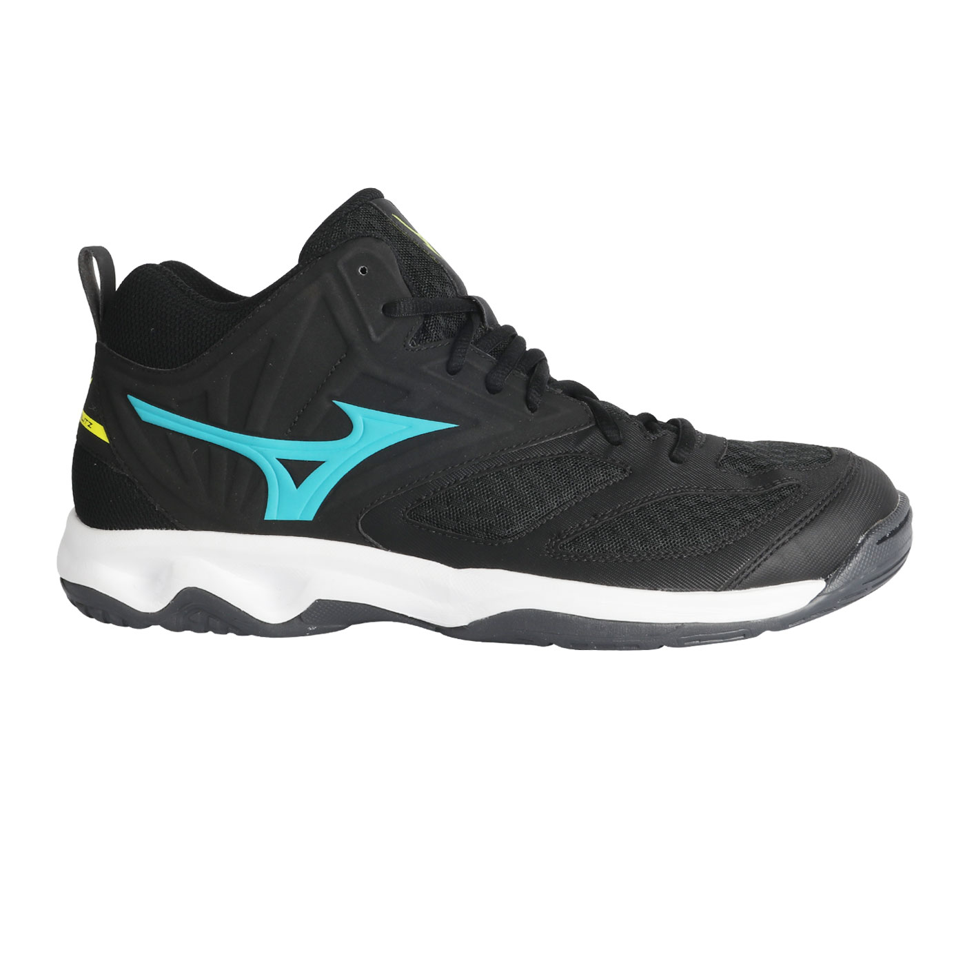 MIZUNO DYNABLITZ MID-BLACK/BLUE ATOLL/FLASH
