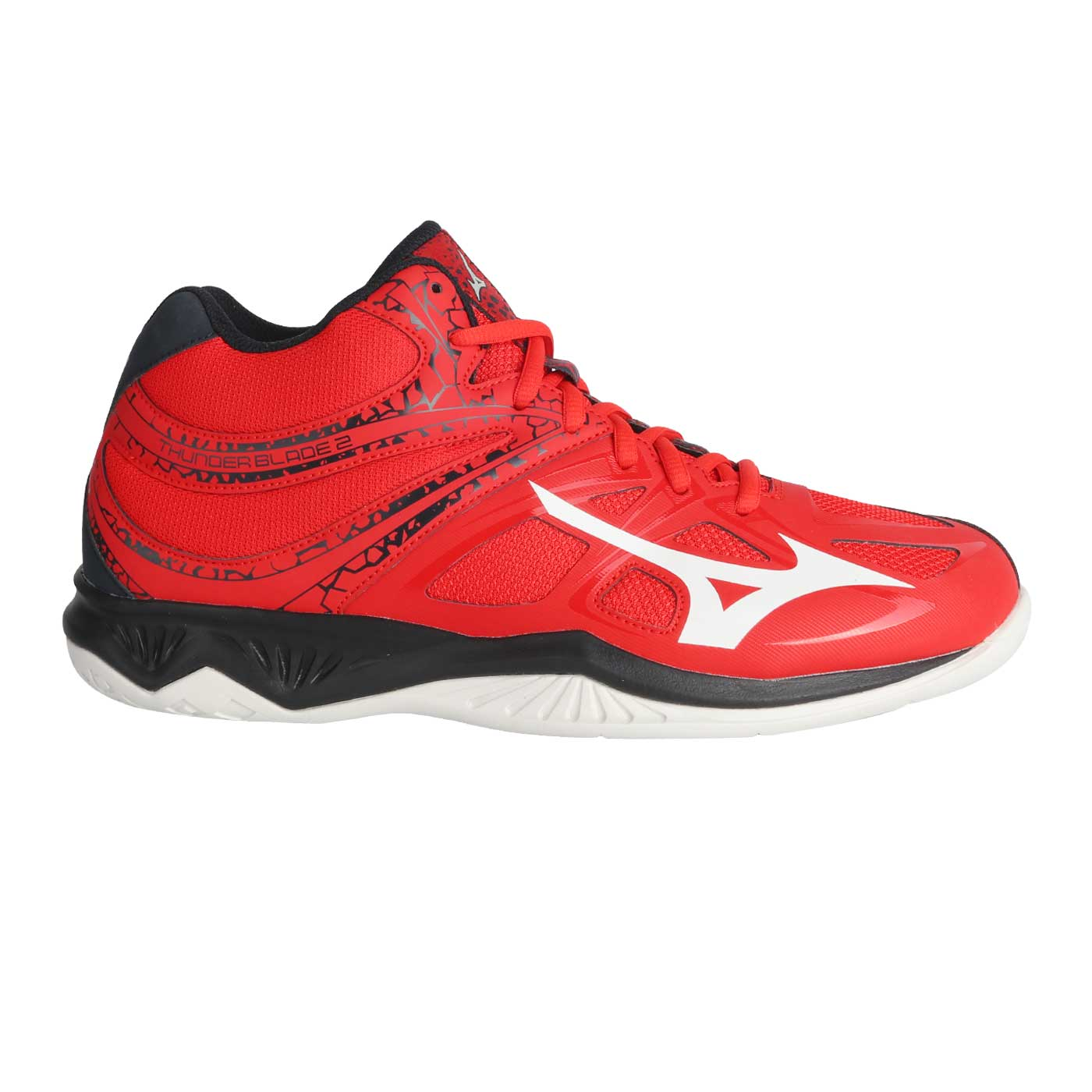 THUNDER BLADE 2 MID-FIERY RED/WHITE/SALUTE