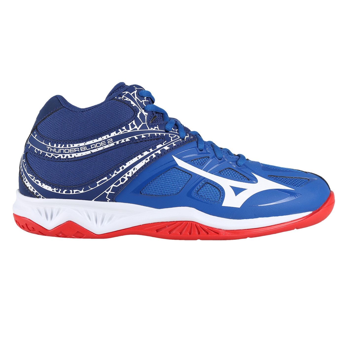 THUNDER BLADE 2 MID-SNORKEL BLUE/WHITE/HIGH RISK RED